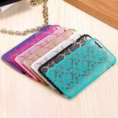 Vintage Elegant Palace Flower Slim Case Hard PC Phone Cover for iPhone Samsung ()
