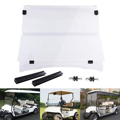 Folding Acrylic Windshield Golf Cart Part for EZGO TXT 1995-2013 Clear Fold Down