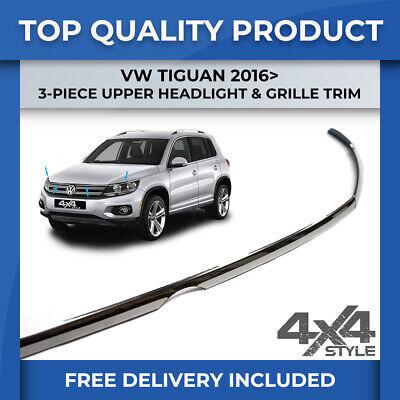 Chrome Front Bumper Grille Streamer Trim 1 Pcs S.Steel VW TIGUAN ALLSPACE 2016