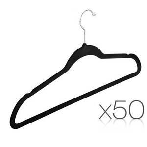 Set of 50 Velvet Coat Hangers North Melbourne Melbourne City Preview