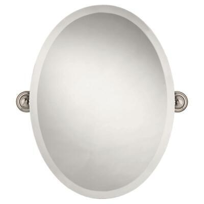 Delta Greenwich 24 in. x 18 in. Frameless Oval Bathroom Mirr
