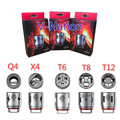 Authentic Clone Tfv12 Cloud Beast King Smok   Q4   X4   T6   T8   T12     Coils