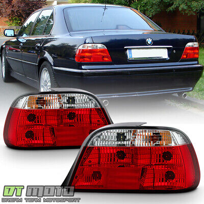1995-2001 BMW E38 740i 740iL 750iL Red Clear Tail Lights Brake Lamps Left+Right