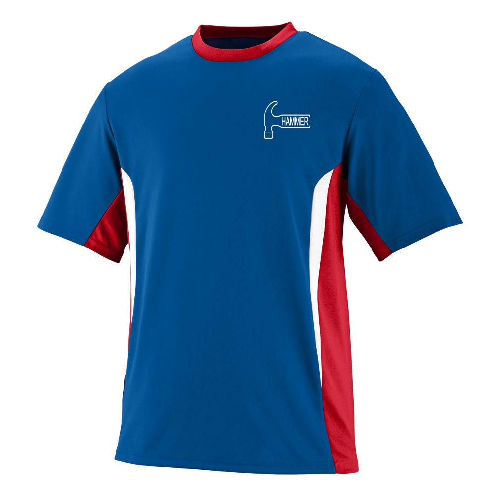Hammer Men's Hawg Performance Jersey Bowling Shirt Dri-fit Royal Red