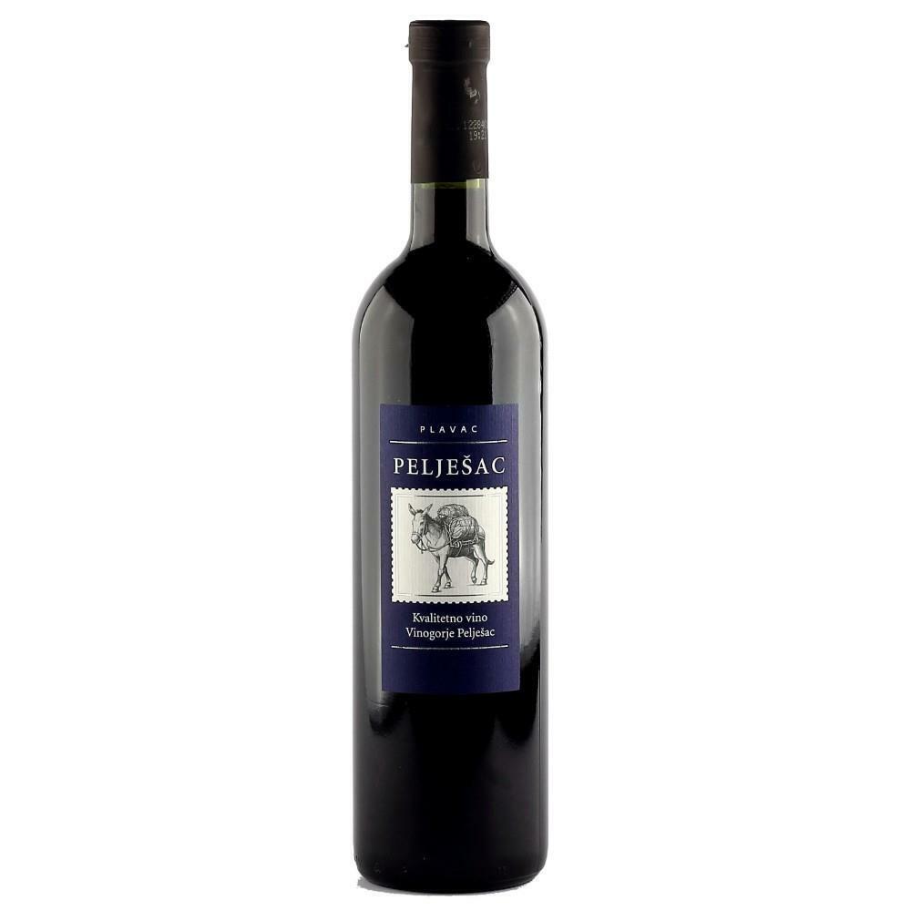 (EUR 7,32/L)  Peljesac Badel halbtrockener Rotwein aus Kroatien 0,75L