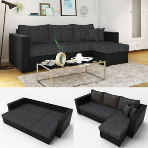 eckcouch mit schlaffunktion g nstig online kaufen bei ebay. Black Bedroom Furniture Sets. Home Design Ideas