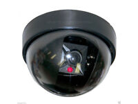 BRAND NEW SECURITY FAKE SECURITY CAMERA LOOK FLASHING LED LIGHT CCTV SURVEILANCE