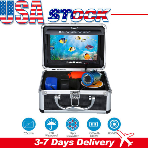 "Eyoyo 7"" inch LCD Monitor 15M Fish Finder Underwater HD 1000"
