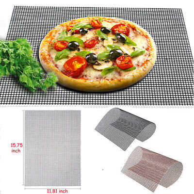BBQ Grill Mesh Mat Teflon Reusable Sheet Resistant Non-Stick Barbecue Bake Tool Non-stick Sheet