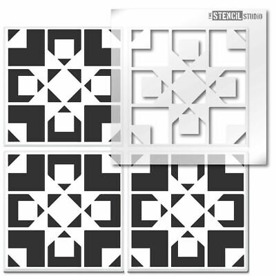 Jonty Reusable Tile STENCIL. Floor, wall for painting. Home Decorating 10820