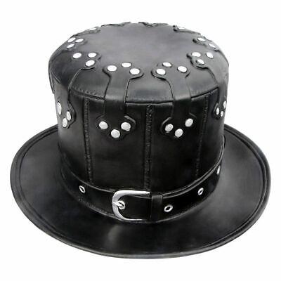 Halloween Steam Punk Style Black Latex Hat Vintage Fashion Carnival Party Decor