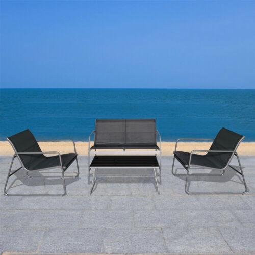 Garden Furniture - 4 Piece Patio Furniture Sofa Set Coffee Table Chair Outdoor Indoor Garden Pool