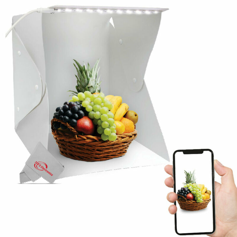 Folding Photo Studio Box with LED Light for Photographing Shooting Small Items