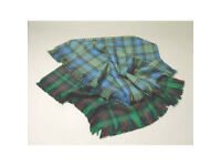 Shawls in 100% Pure New Wool various tartans 137CMSX137CMS LARGE ONLY £19.99
