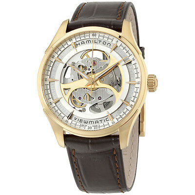 Hamilton Men's H42545551 Jazzmaster Analog Automatic Self Wind Brown Watch