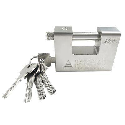 Heavy Duty Padlock Lock Security Container Garage Warehouse Truck W 5 Keys