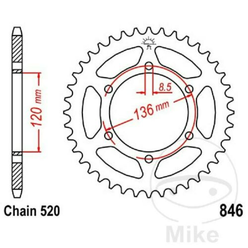 Chain DID 520VX3 Sprocket 14 Sprocket 45 GBC Yamaha 250