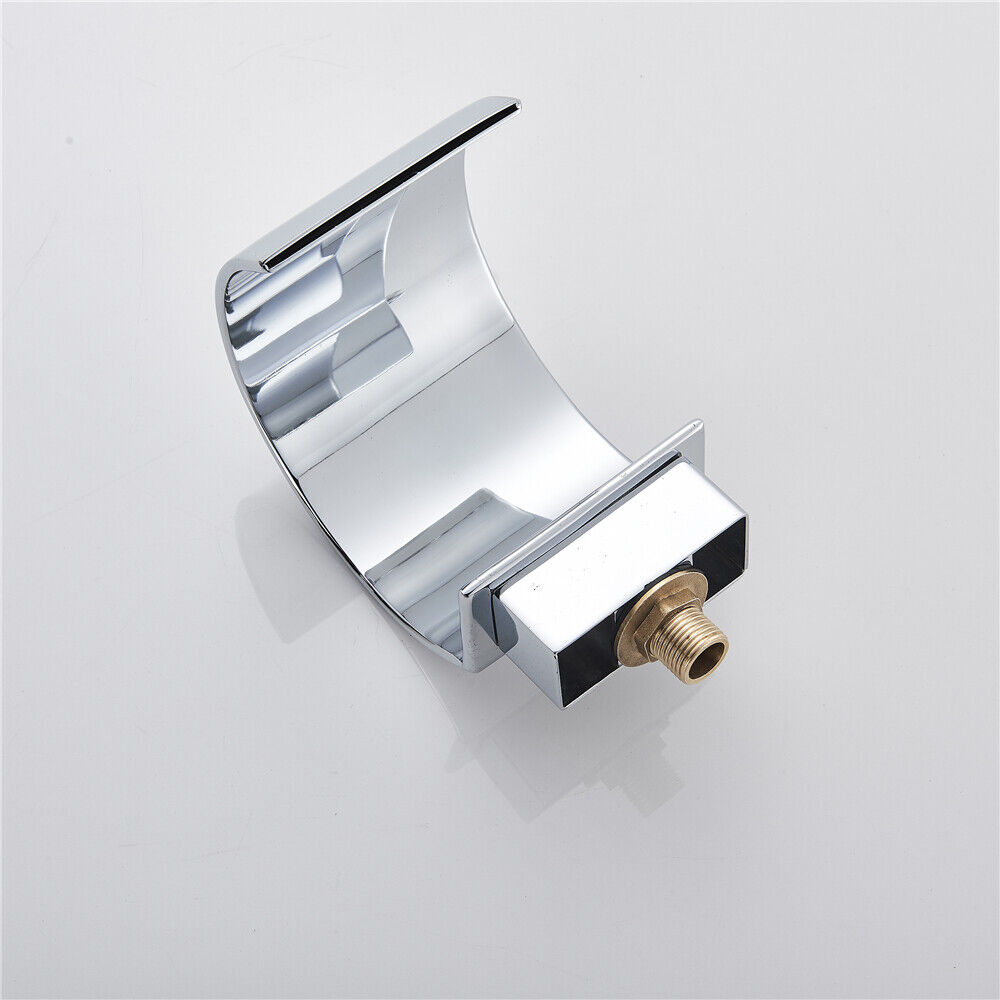 Chrome Widespread LED Basin Sink Faucet Waterfall Bathroom 3 Holes Faucet 7