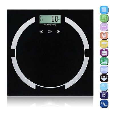 180KG DIGITAL ELECTRONIC LCD BMI CALORIE BODY FAT BATHROOM WEIGHING SCALE WEIGHT