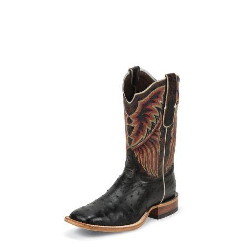 Tony, Lama, Mens, Black, Lux, Full, Quill, Ostrich, Cowboy, Boot, Square, Toe, -, 6080