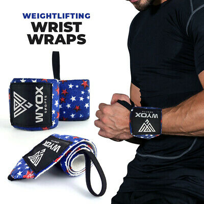 Wrist Wraps CrossFit Weight Lifting Support Strength Training MIAMI HEAT