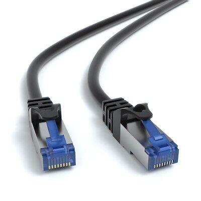 5m CAT 7 Patchkabel Netzwerkkabel Ethernetkabel DSL LAN Kabel  - SCHWARZ