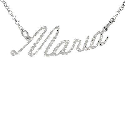 Diamond Cut Name Pendant (Sterling Silver Name Necklace w/Diamond Cut Finish
