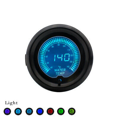 "2"" 52mm Universal Car EVO 7 Color Selectable LCD Digital Water Temp Gauge Meter"