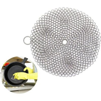 316 Cast Iron Chainmail Scraper Brush Cleaning Ball Cleaner Brush Scrubber