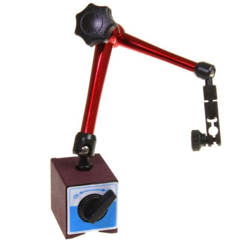 """Magnetic Base Dial Indicator Holder 14"""" Reach Central Locking 176 lb Heavy Duty"""