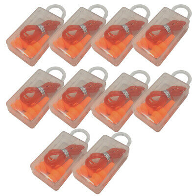 10 Pairs Ear Plugs Orange Silicone Ear Plugs 33db Anti Noise Hearing Protection