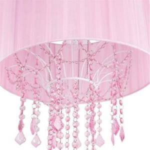 NEWTadpoles 1 Bulb Shaded Chandelier, Pink Condition: New
