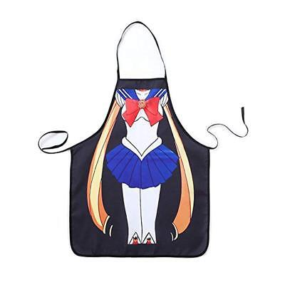Moon Apron (Sailor Moon Usagi Tsukino Apron with Adjustable Length Be The Character Kitchen )