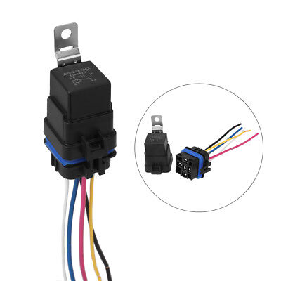 Automotive Car Auto 12v 5 Pin Relay Socket Harness Plug Holder 40 Amp Waterproof