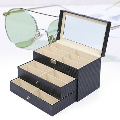18 Grid Sunglasses Storage Box Organizer Glasses Display box Stand Holder Large