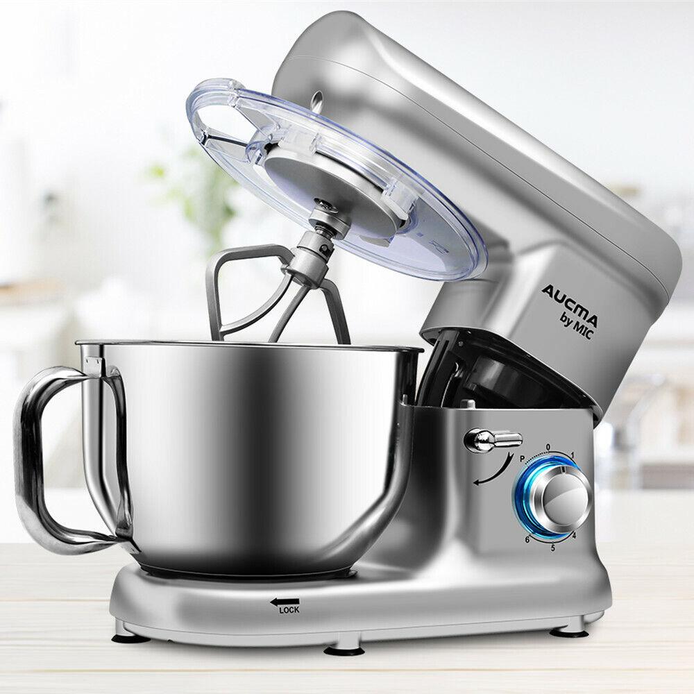 MIC Küchenmaschine 1500W Knetmaschine Rührmaschine Edelstahl Rührschüssel 5,5 L