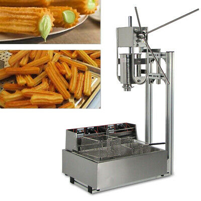 3l Stainless Steel Commercial Manual Spanish Churro Machine W 12l Deep Fryer