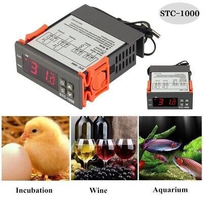 Stc-1000 Digital Temperature Controller Sensor Thermostat Control Dg 110v-220v