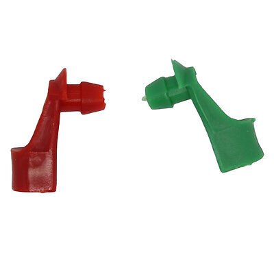 - Chevy GMC Outside Exterior Door Handle Tailgate Rod Retainer Clip Red + Green