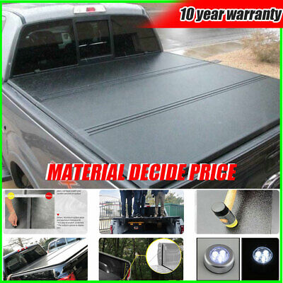 Hard 5.5ft TriFold Truck Bed Cover Tonneau Cover With Lock For 2014-19 Ford F150