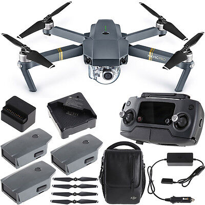 DJI Mavic Pro Quadcopter Drone Combo Give up with 4K Camera  4 Battery Bundle