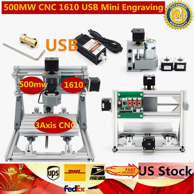 3 Axis Usb Diy Cnc 1610 Router Kit Wood Engraving Carving Pcb Milling Machine