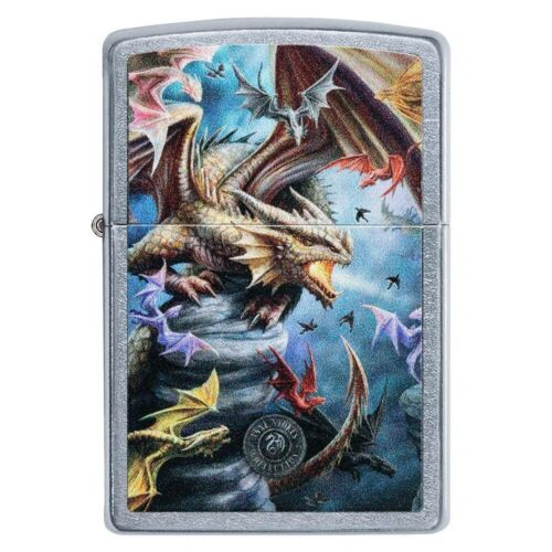 ZIPPO Anne Stokes, Pack of Three Wolves, Street Chrome, Color Image 49099 L@@K