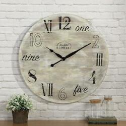 FirsTime & Co. 27 in. Multi-Color Oversized Carlisle Gears Wall Clock