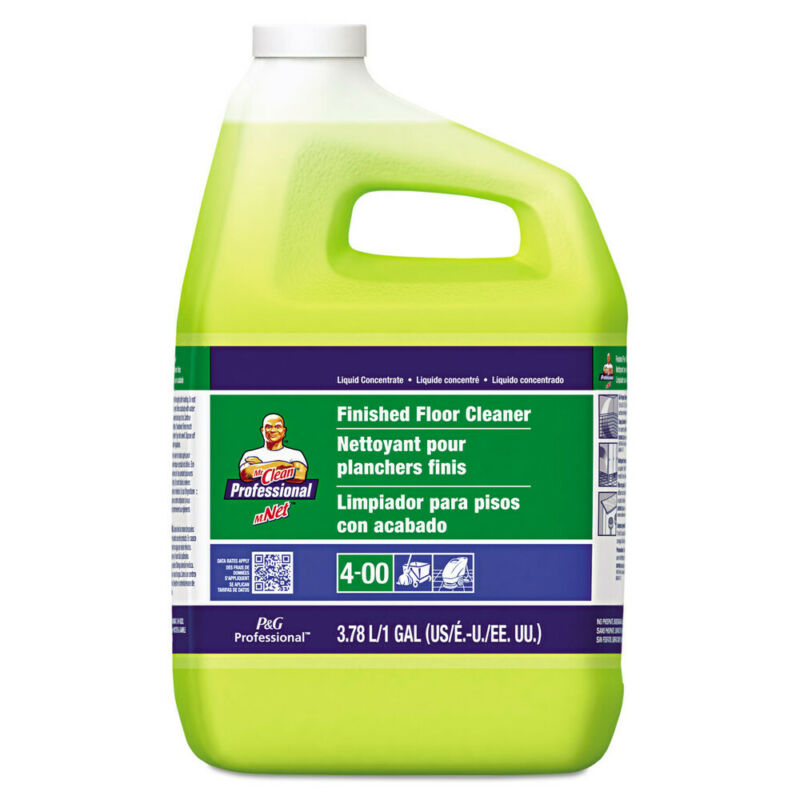 P&G Professional Finished Floor Cleaner, Lemon Scent, One Gallon Bottle, 3/carto