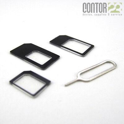 [4in1] Sim Adapter Micro/Nano Kartenadapter [Apple iPhone,Samsung Galaxy,Huawei] Iphone Sim-karten-adapter