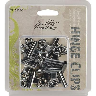 Tim Holtz ~ HINGE CLIPS ~ Idea-ology 15 pcs - Hinge Clips