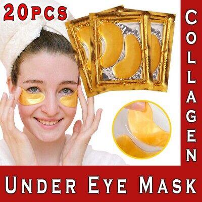 20 Under Eye Gel Pad Pcs Crystal Collagen 24k Gold Face Mask Anti Aging Wrinkle