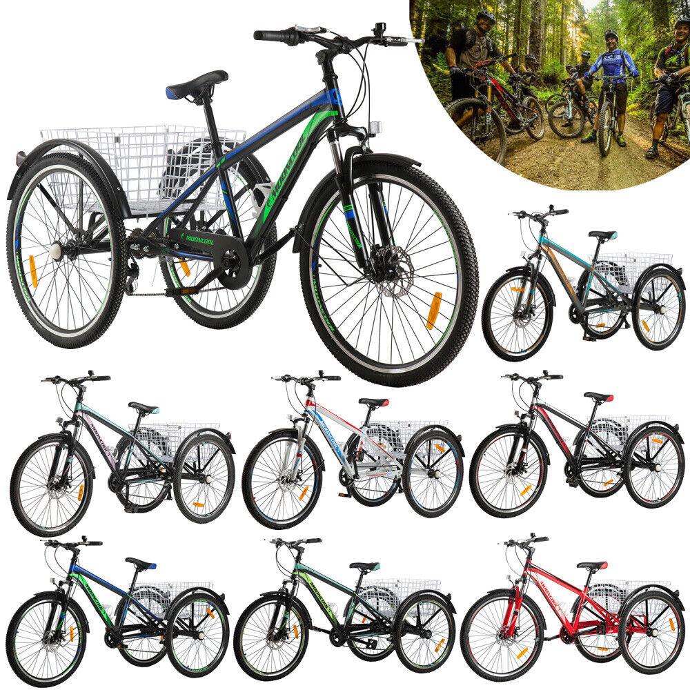 20'' 24'' 26'' 1/7 Speed Adult Mountain Tricycle 3 Wheel Bik