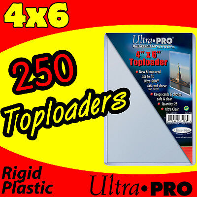 250 ULTRA PRO 4x6 HARD RIGID TOP LOAD TOPLOADER POSTCARD PHOTO HOLDER SLEEVES